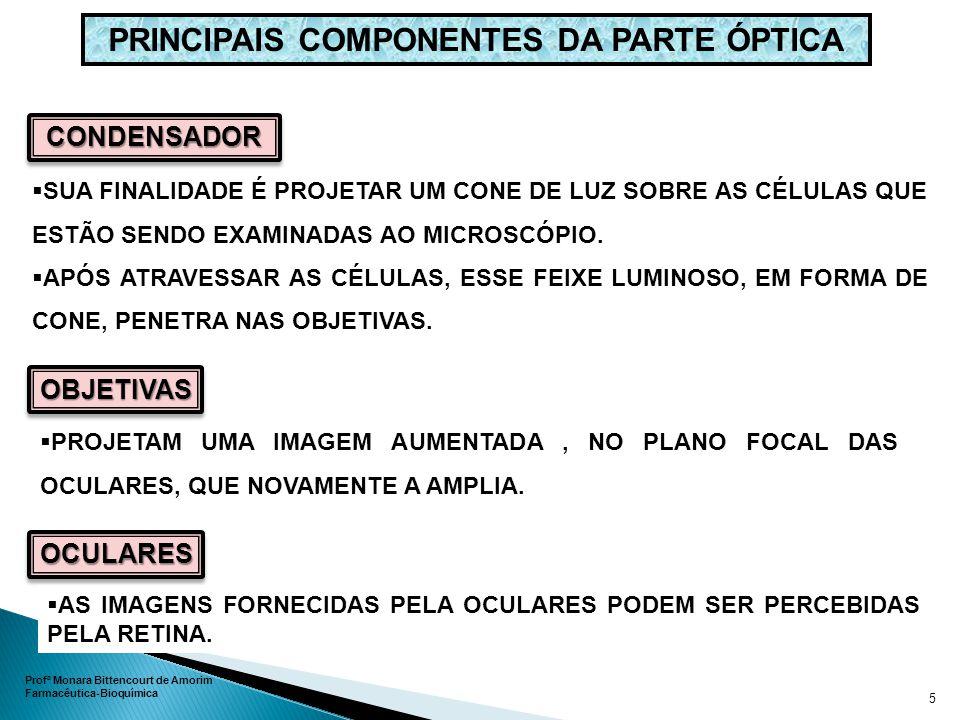 PRINCIPAIS COMPONENTES DA PARTE ÓPTICA
