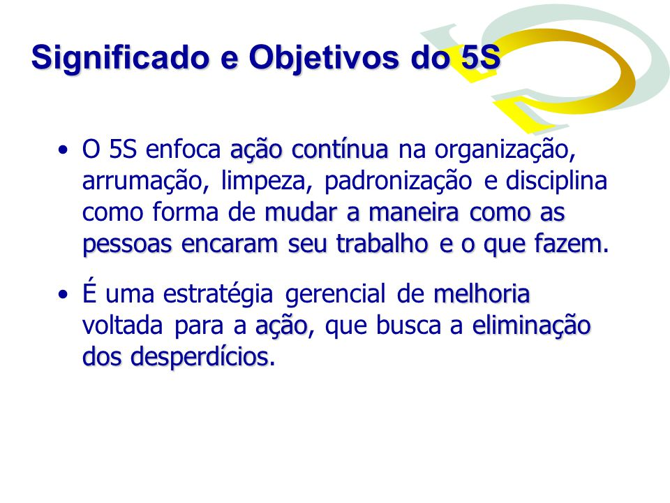 Significado e Objetivos do 5S