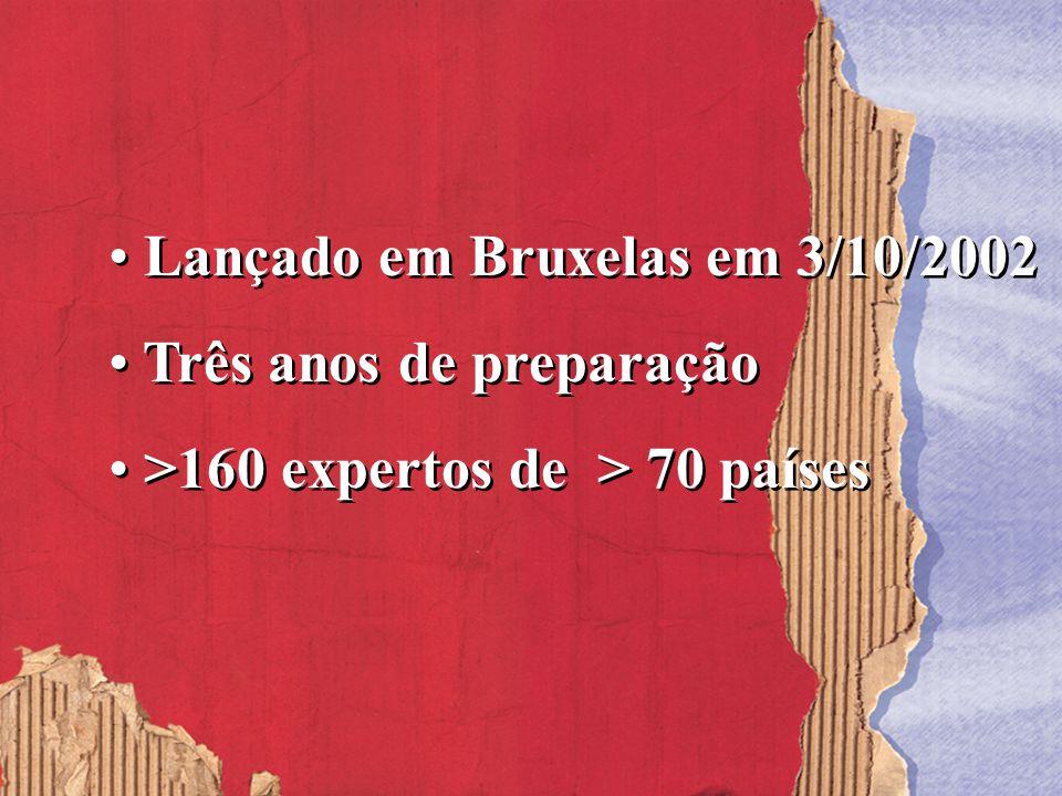 Lançado em Bruxelas em 3/10/2002