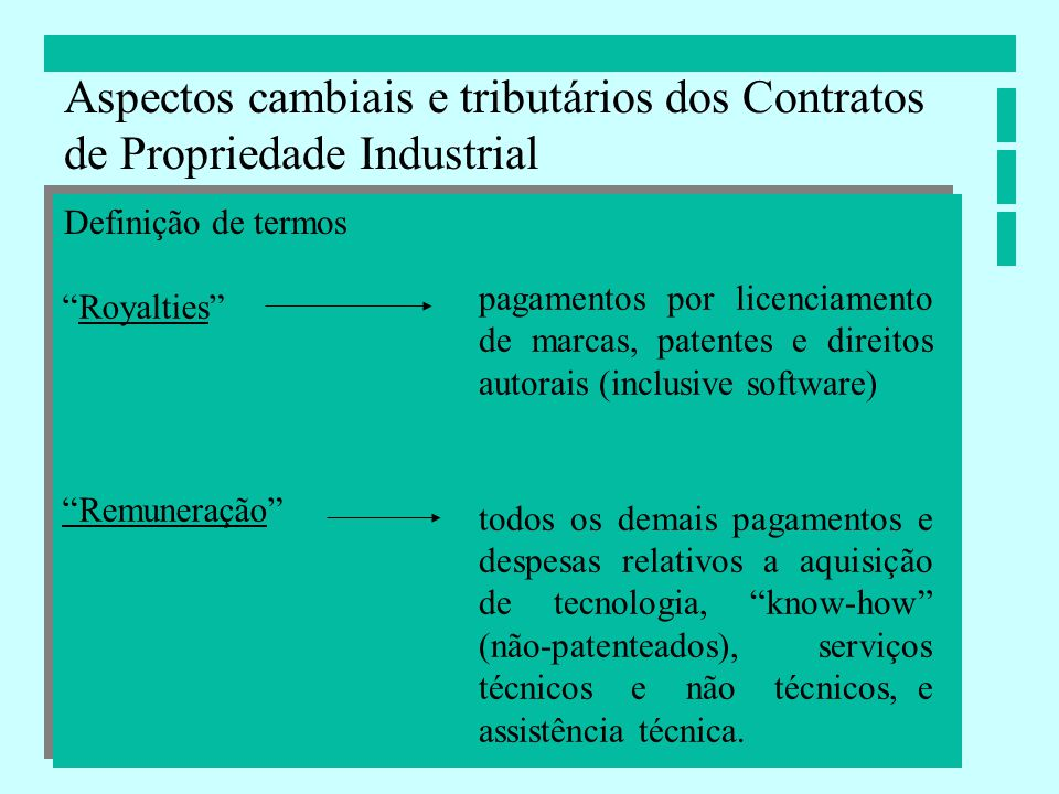 Aspectos cambiais e tributários dos Contratos de Propriedade Industrial