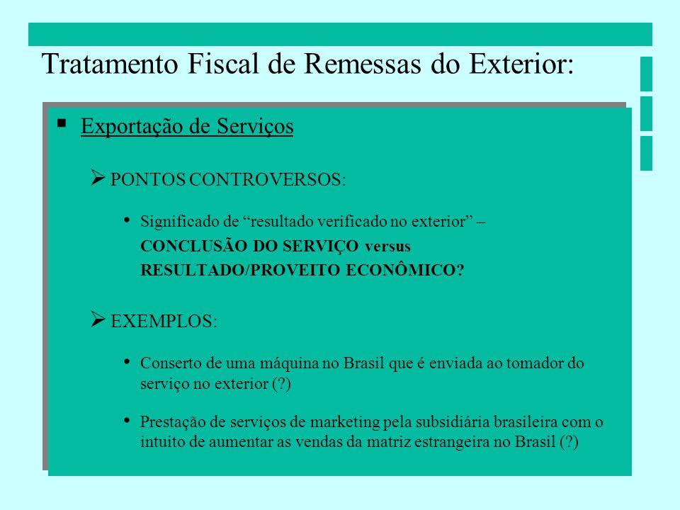 Tratamento Fiscal de Remessas do Exterior: