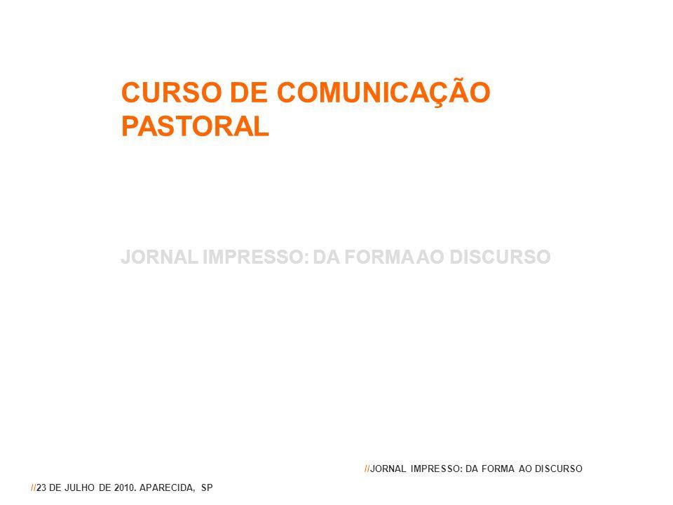 CURSO DE COMUNICAÇÃO PASTORAL