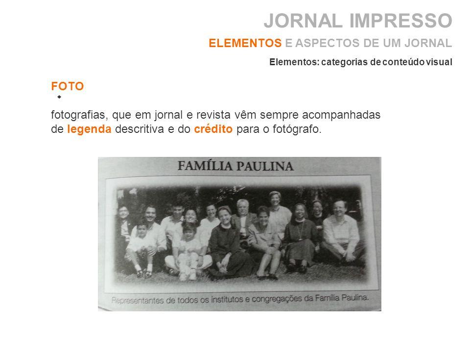 JORNAL IMPRESSO ELEMENTOS E ASPECTOS DE UM JORNAL FOTO