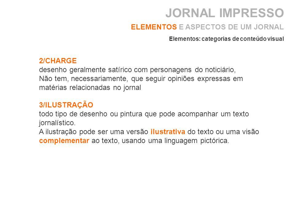 JORNAL IMPRESSO ELEMENTOS E ASPECTOS DE UM JORNAL 2/CHARGE