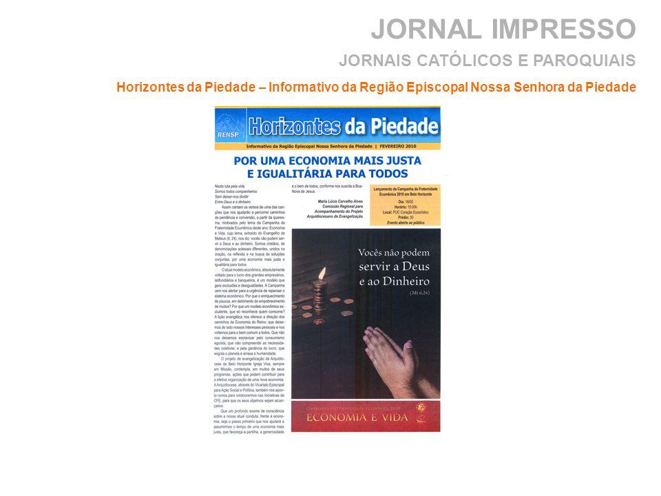 JORNAL IMPRESSO JORNAIS CATÓLICOS E PAROQUIAIS
