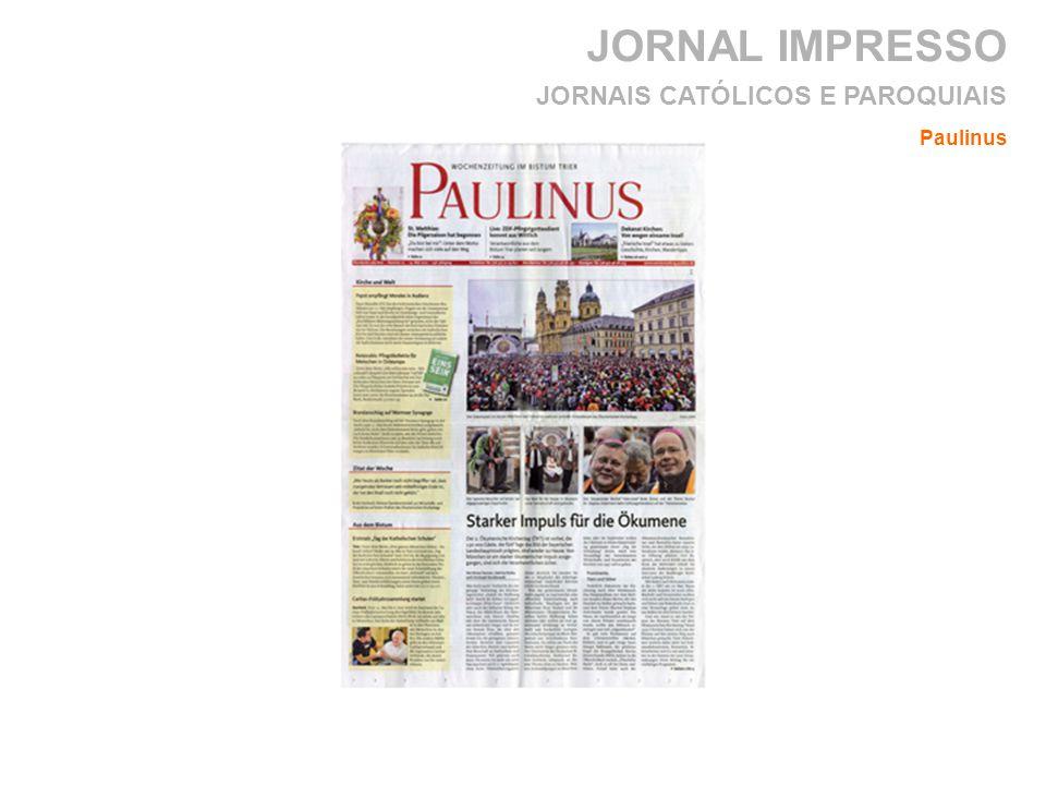 JORNAL IMPRESSO JORNAIS CATÓLICOS E PAROQUIAIS Paulinus