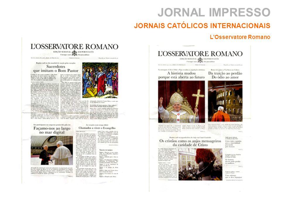 JORNAL IMPRESSO JORNAIS CATÓLICOS INTERNACIONAIS L'Osservatore Romano