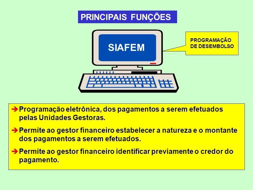 SIAFEM PRINCIPAIS FUNÇÕES