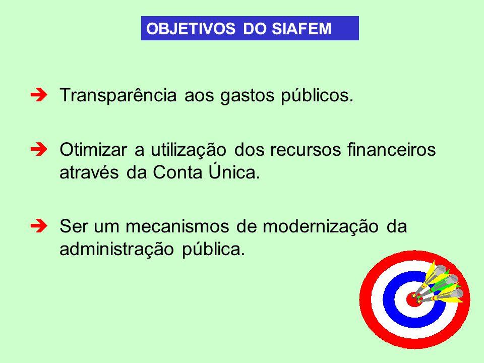Transparência aos gastos públicos.