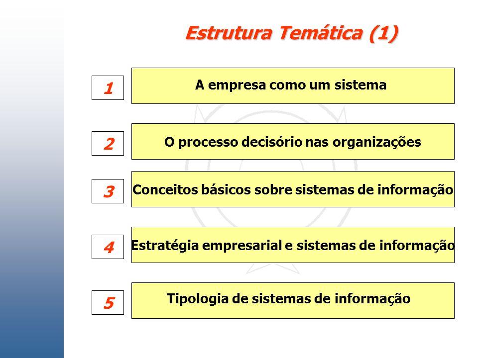 Estrutura Temática (1) 1 2 3 4 5 A empresa como um sistema
