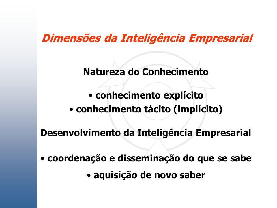 Dimensões da Inteligência Empresarial
