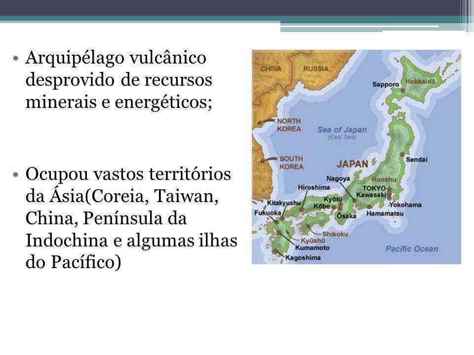 Arquipélago vulcânico desprovido de recursos minerais e energéticos;
