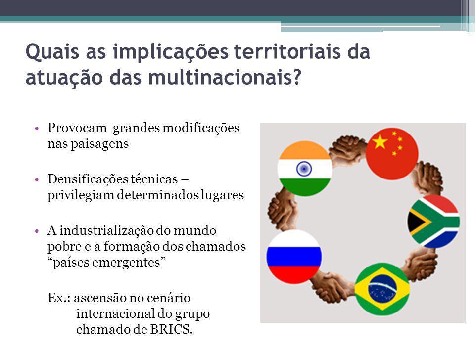 Quais as implicações territoriais da atuação das multinacionais
