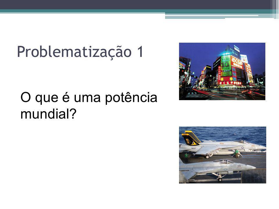 Problematização 1 O que é uma potência mundial