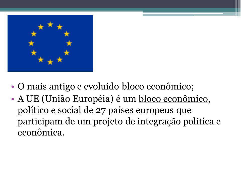 O mais antigo e evoluído bloco econômico;