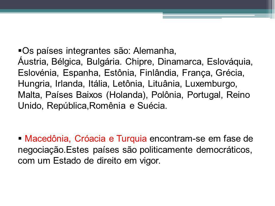 Os países integrantes são: Alemanha, Áustria, Bélgica, Bulgária