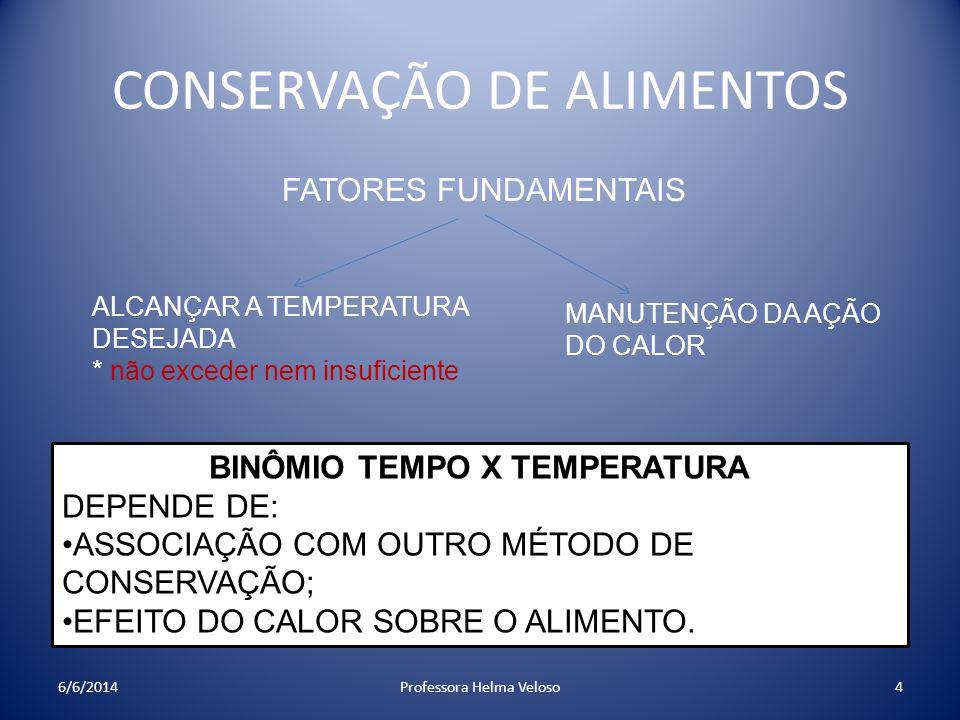 BINÔMIO TEMPO X TEMPERATURA