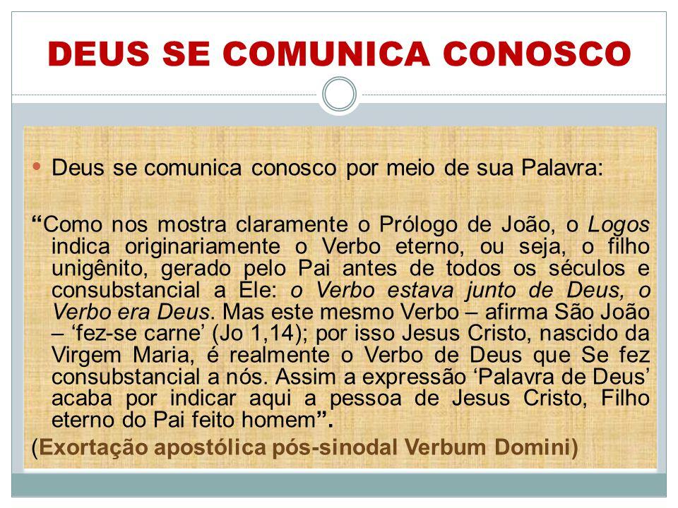 DEUS SE COMUNICA CONOSCO