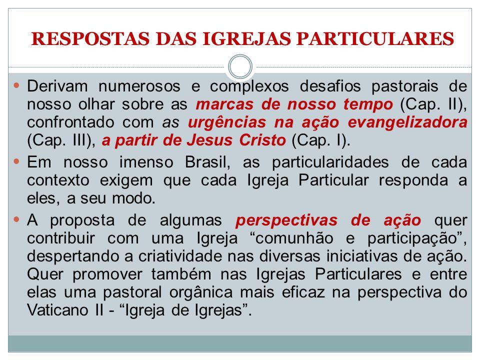 RESPOSTAS DAS IGREJAS PARTICULARES