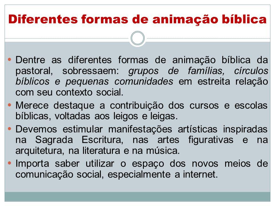 Diferentes formas de animação bíblica