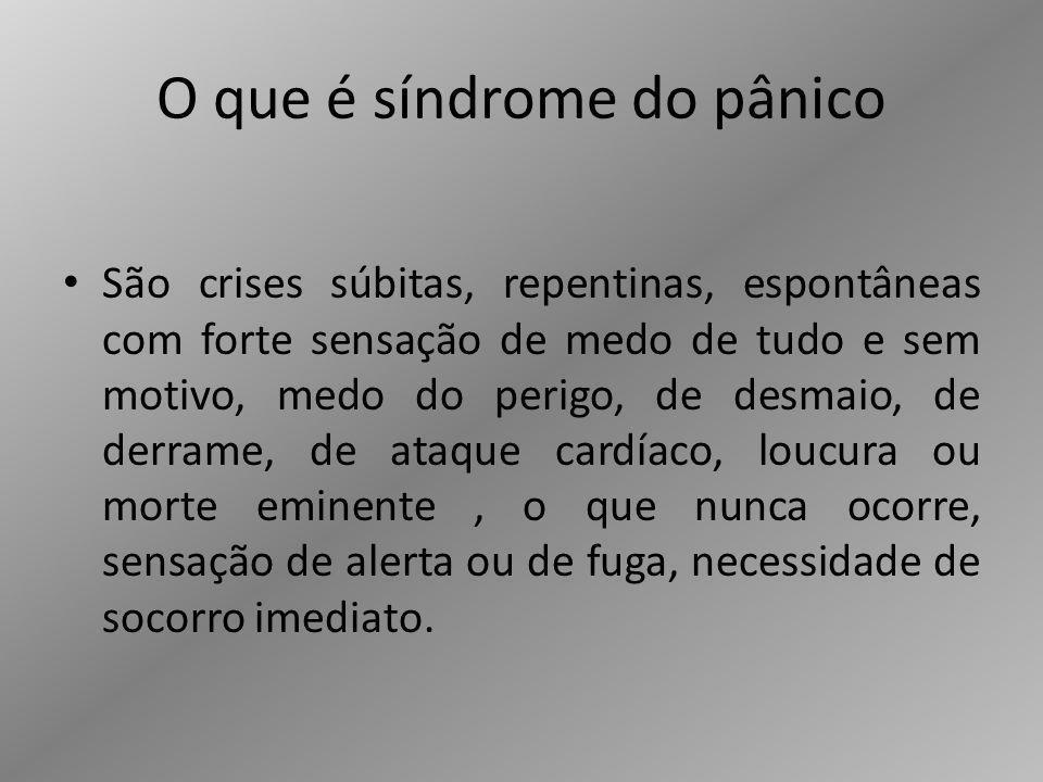 O que é síndrome do pânico