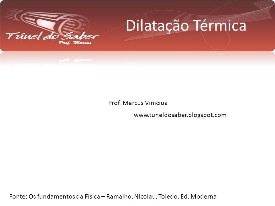 Dilatação Térmica Prof. Marcus Vinicius www.tuneldosaber.blogspot.com