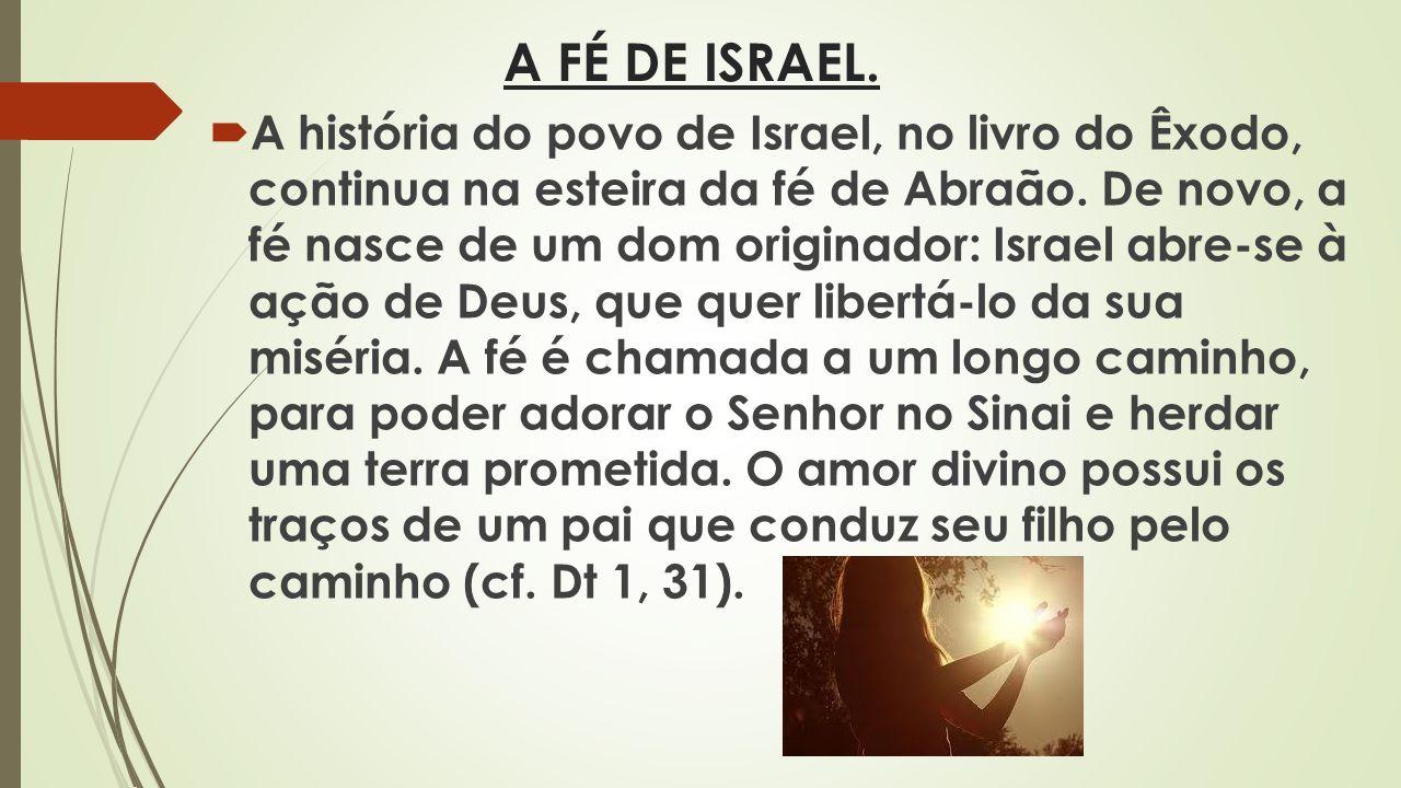 A FÉ DE ISRAEL.