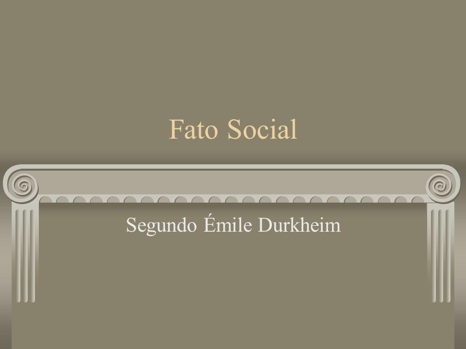 Segundo Émile Durkheim