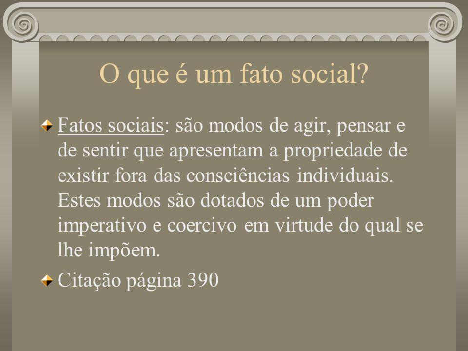 O que é um fato social