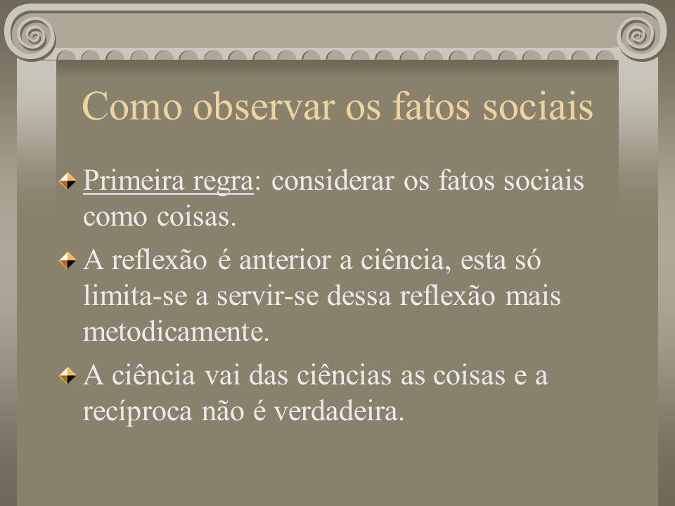 Como observar os fatos sociais