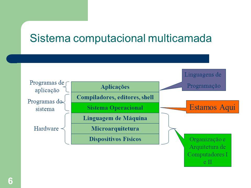 Sistema computacional multicamada