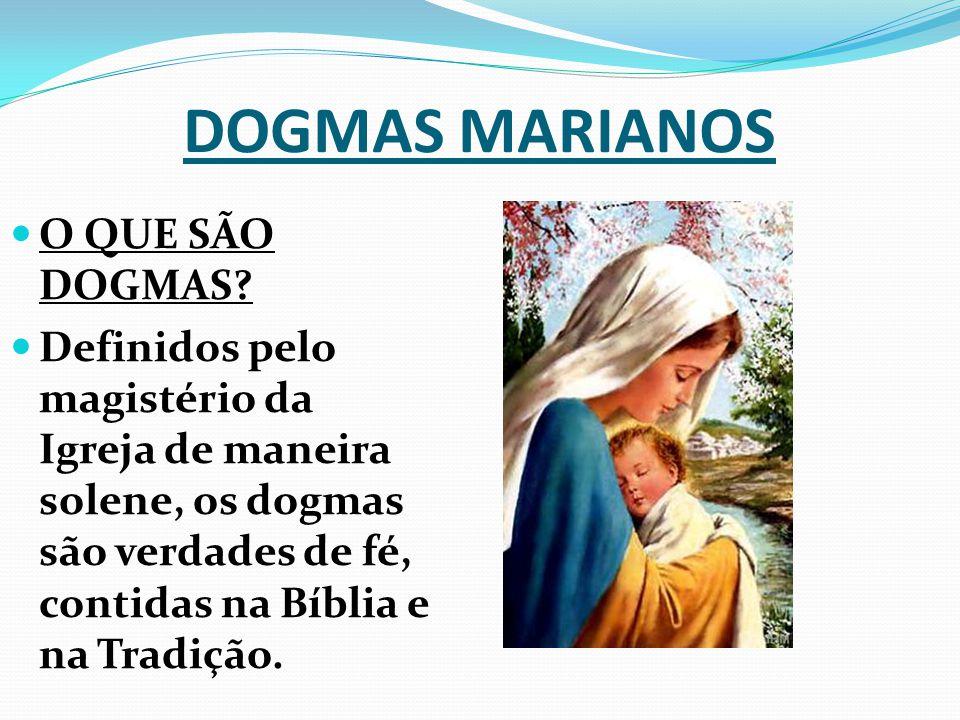 DOGMAS MARIANOS O QUE SÃO DOGMAS