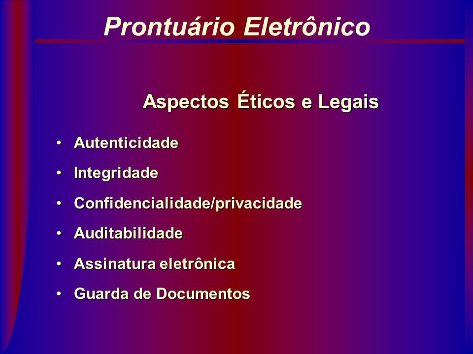 Prontuário Eletrônico Aspectos Éticos e Legais