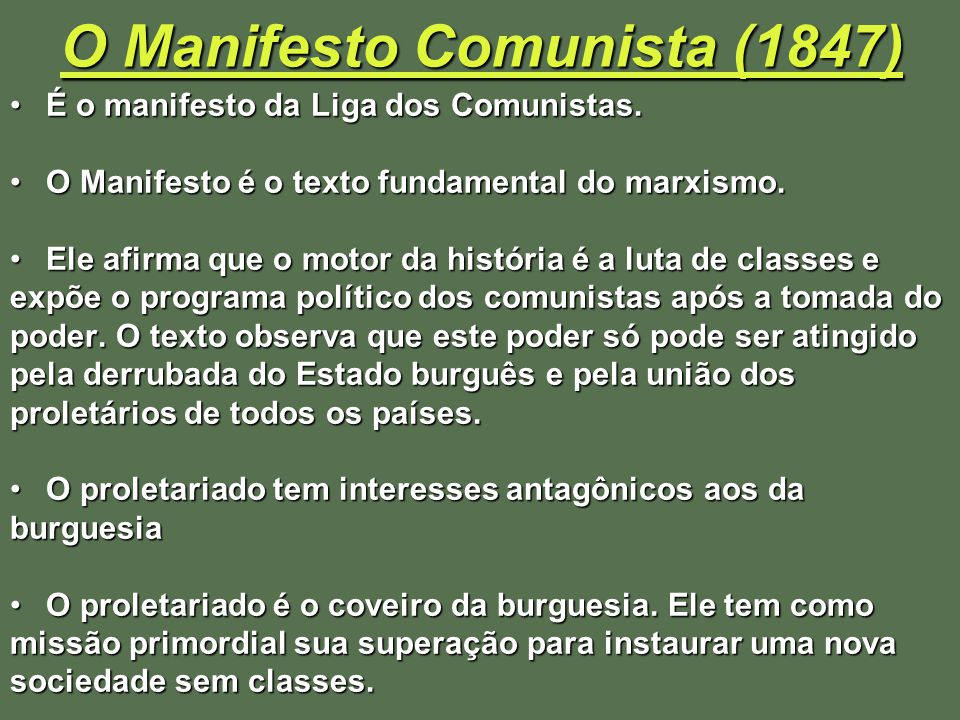O Manifesto Comunista (1847)