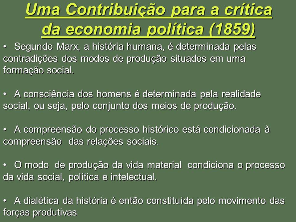 Uma Contribuição para a crítica da economia política (1859)