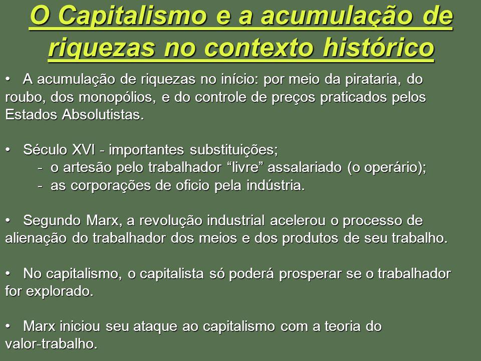 O Capitalismo e a acumulação de riquezas no contexto histórico