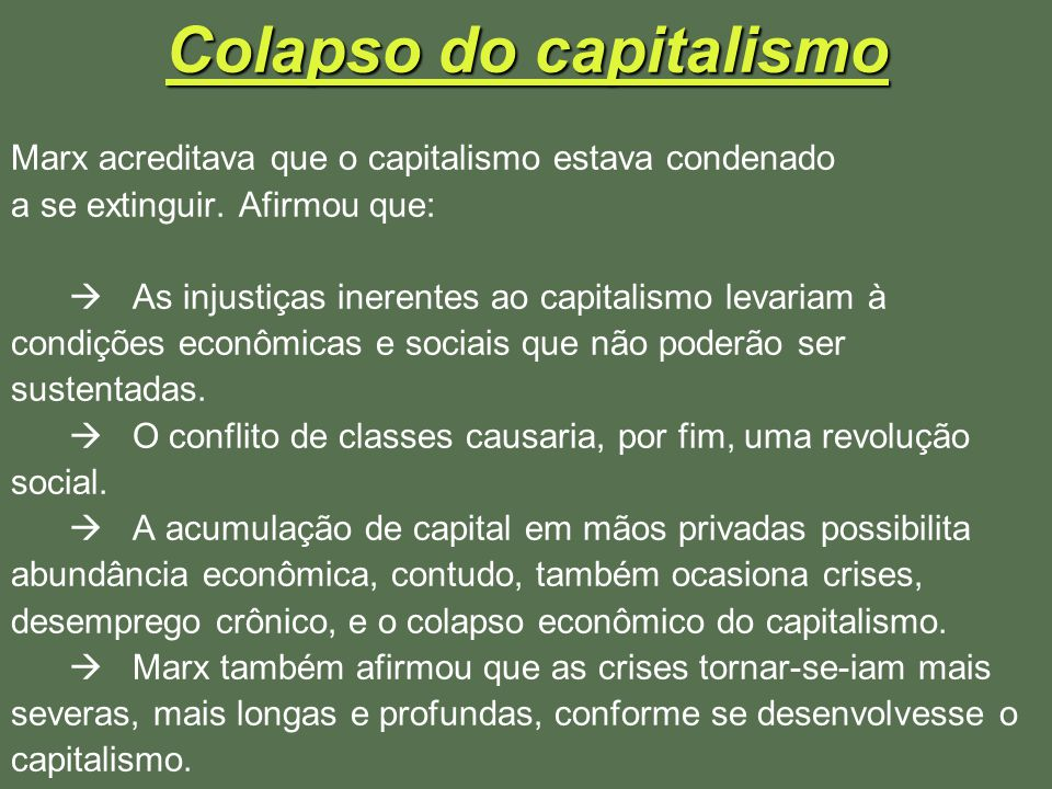 Colapso do capitalismo