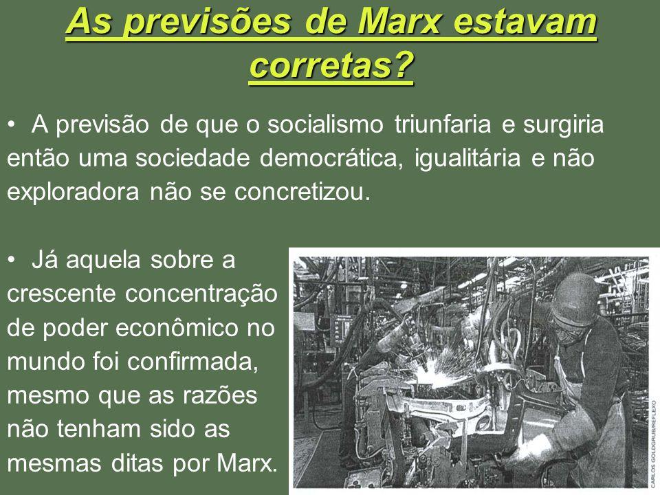 As previsões de Marx estavam corretas