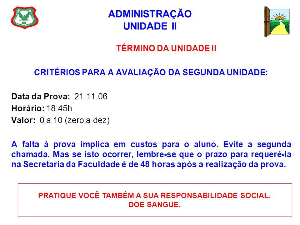 ADMINISTRAÇÃO UNIDADE II