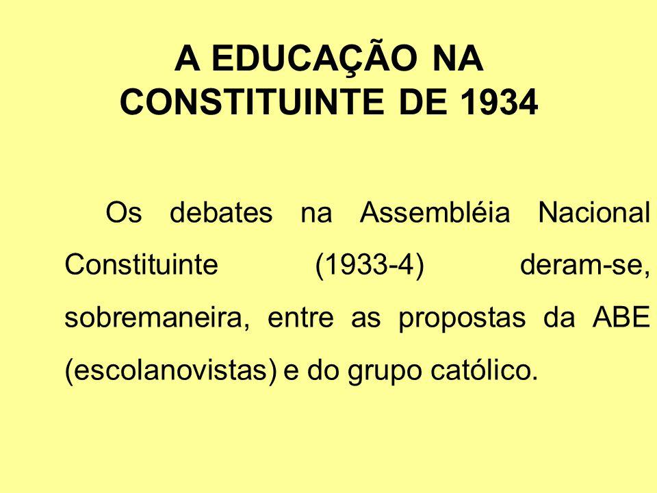 A EDUCAÇÃO NA CONSTITUINTE DE 1934