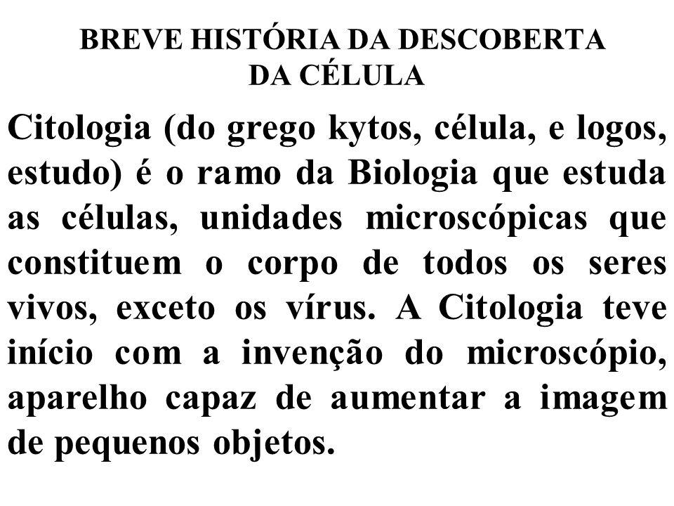 BREVE HISTÓRIA DA DESCOBERTA DA CÉLULA