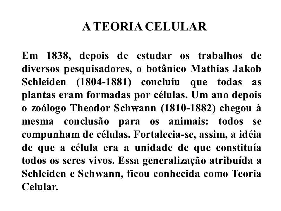 A TEORIA CELULAR