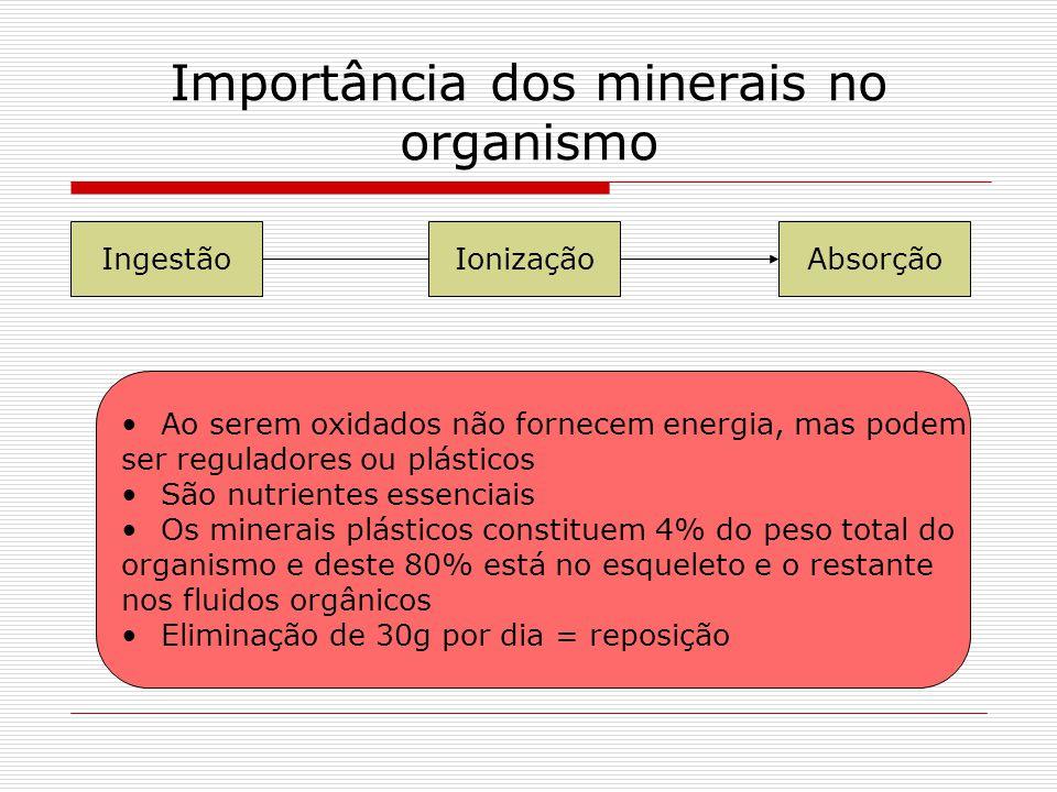 Importância dos minerais no organismo