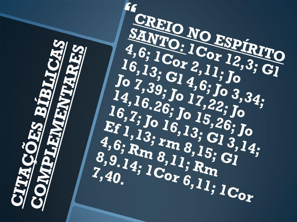 CITAÇÕES BÍBLICAS COMPLEMENTARES