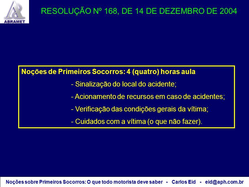 RESOLUÇÃO Nº 168, DE 14 DE DEZEMBRO DE 2004