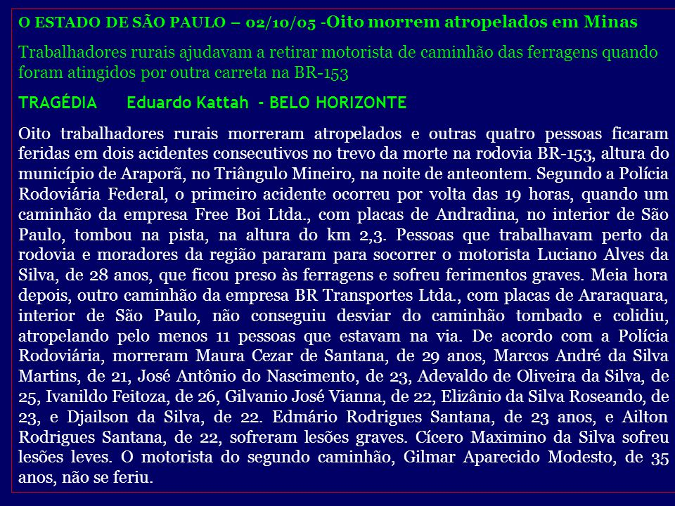 TRAGÉDIA Eduardo Kattah - BELO HORIZONTE