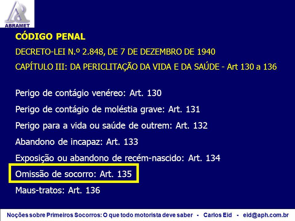 Perigo de contágio venéreo: Art. 130