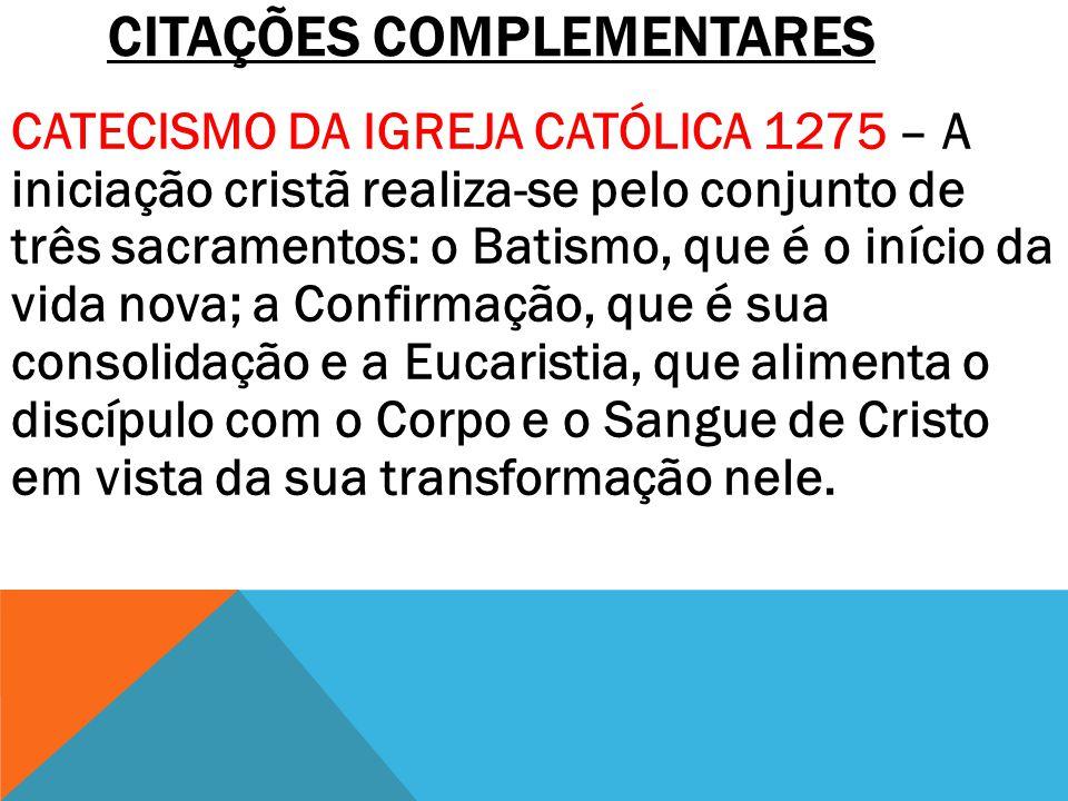 CITAÇÕES COMPLEMENTARES