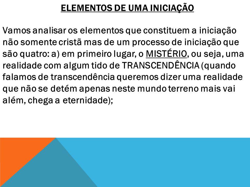 ELEMENTOS DE UMA INICIAÇÃO