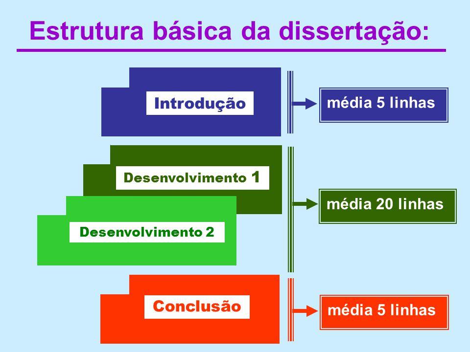 Estrutura básica da dissertação: